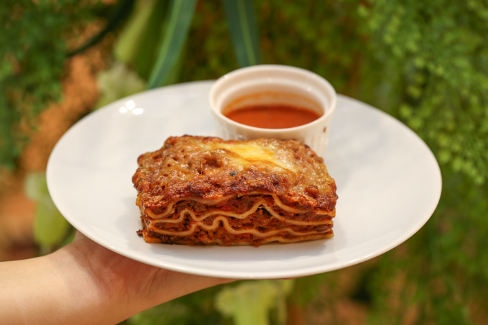 CAFE AMAZON BEEF LASAGNA.