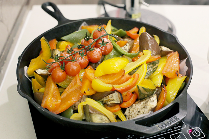 Ginger Slow Roasted Vegetables
