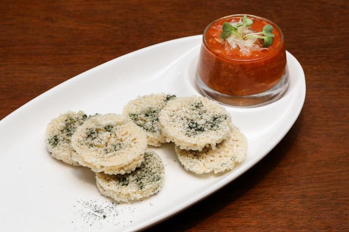 LingZhi Vegetarian Crispy Rice Crab Chilli Sauce