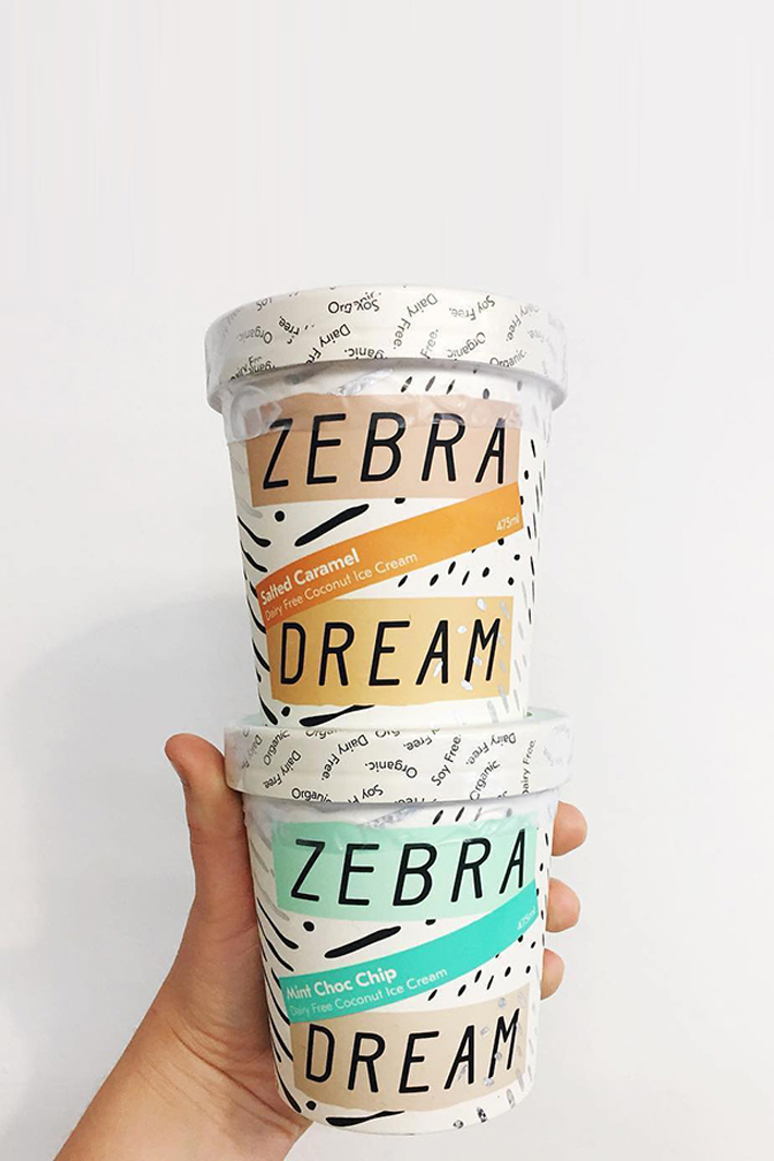 Zebra Dream Ice Cream Tubs