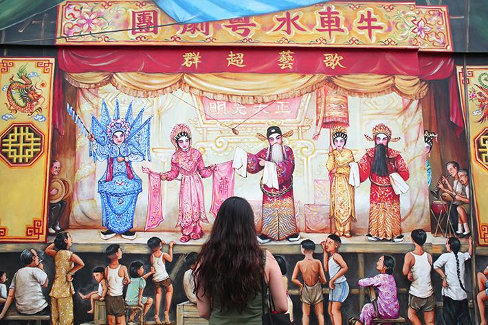 cantonese opera mural