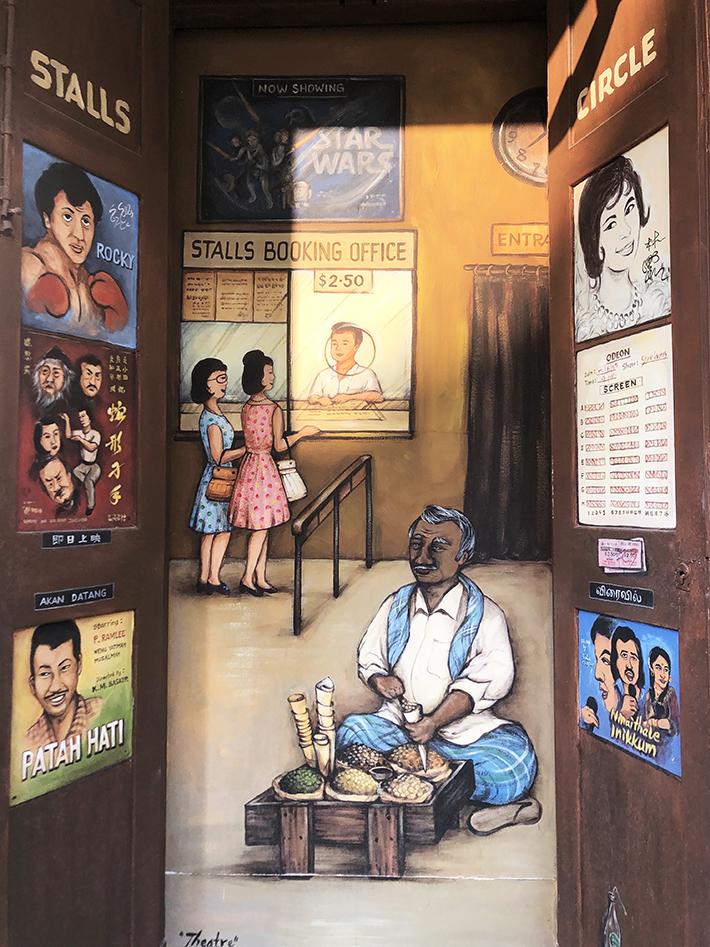 mural national theatre & odeon cinema