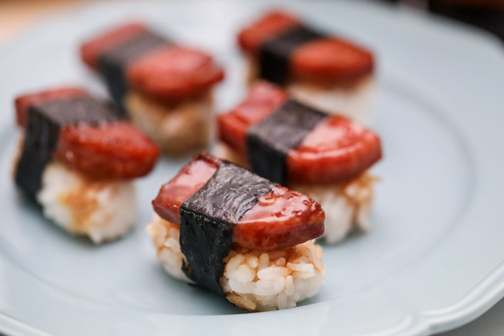 Aloha Poke Spam Musubi Sushi