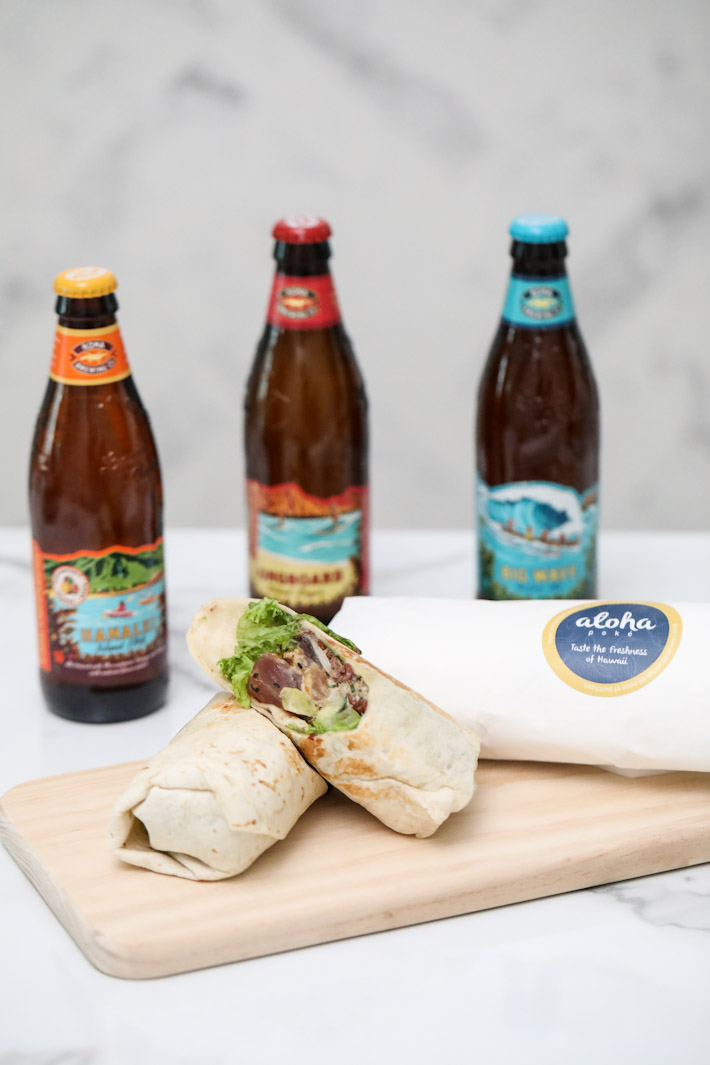 Aloha Poke Wrap Craft Beer