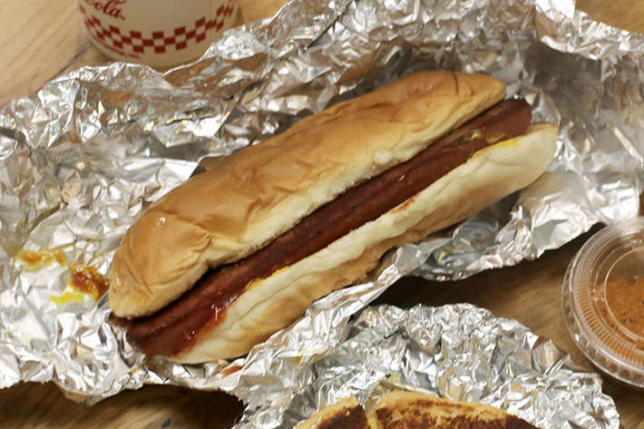 Five Guys All Beef Hot Dog