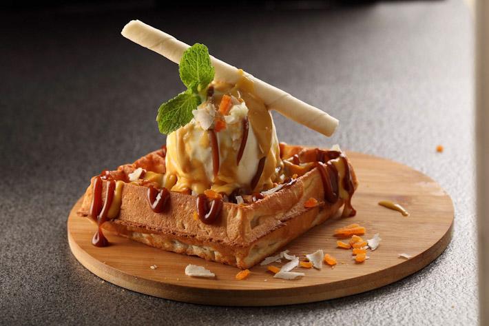 Griddy Salted Egg Dessert Waffle