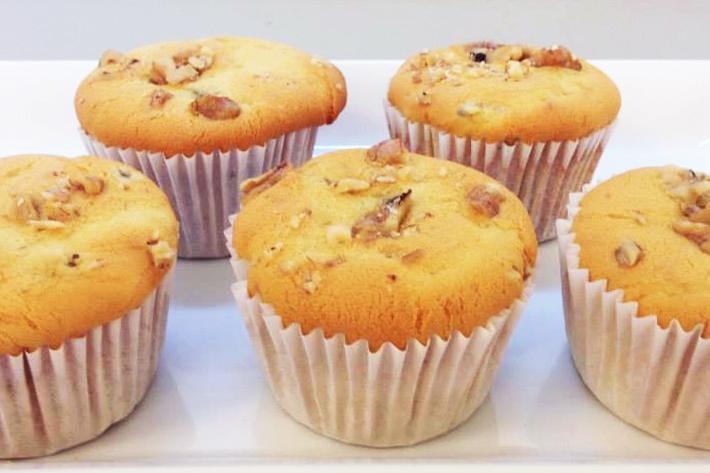 M Bakery Walnut Cupcakes