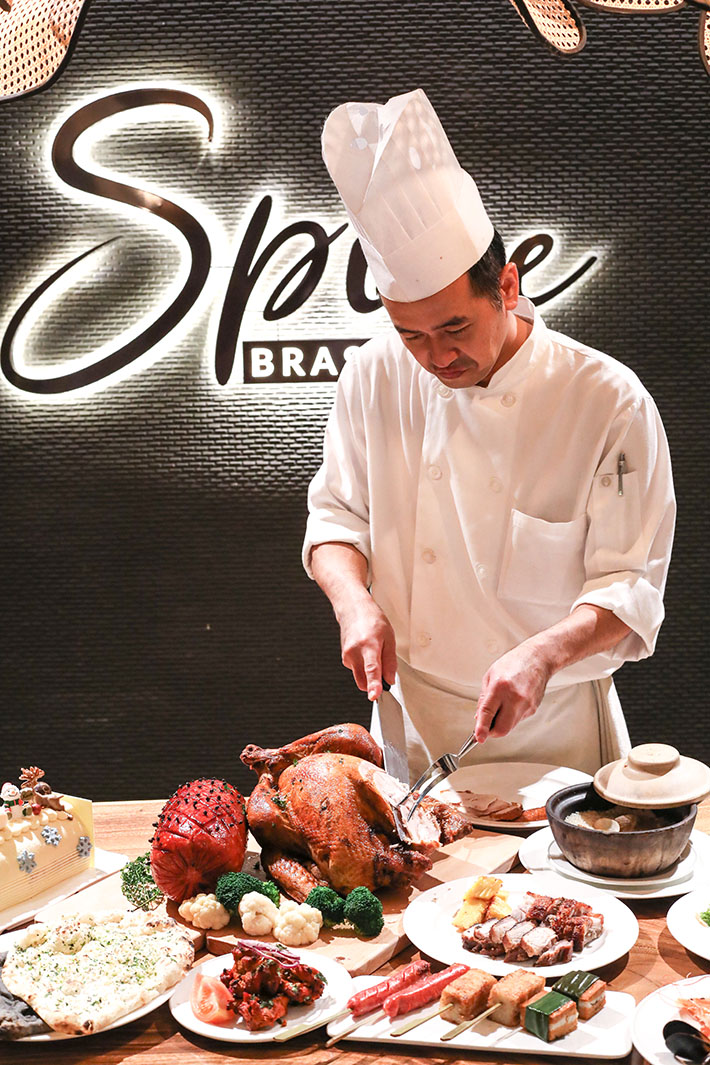 Spice Brasserie Chef Carving