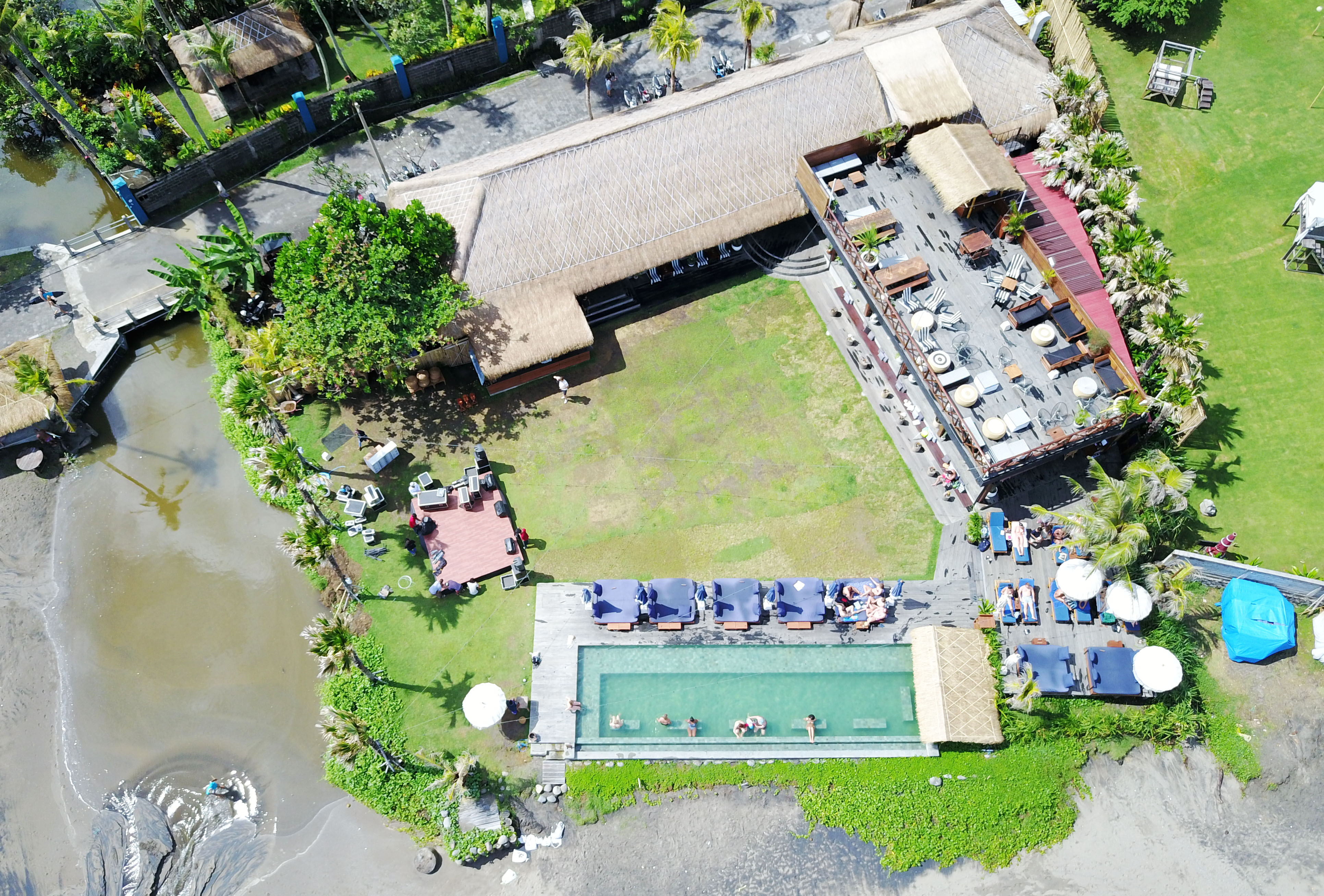 The Lawn Aerial View