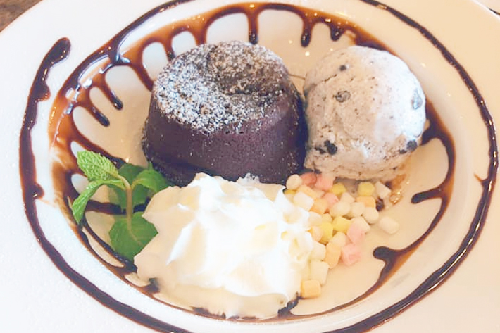 The Lazy Garden Cafe Chocolate Lava Cake