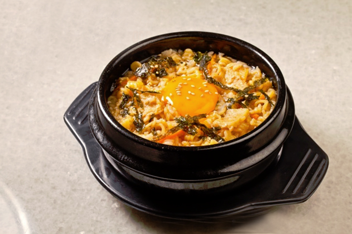 Zzang Korean Food Stone Pot Ramyeon Porridge