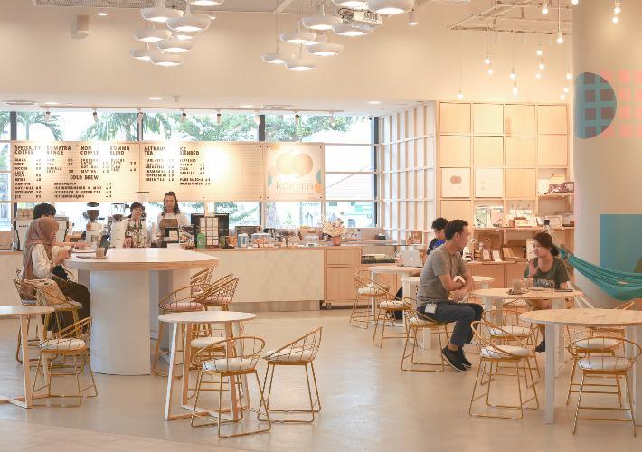 Komma Social Cafe Interior
