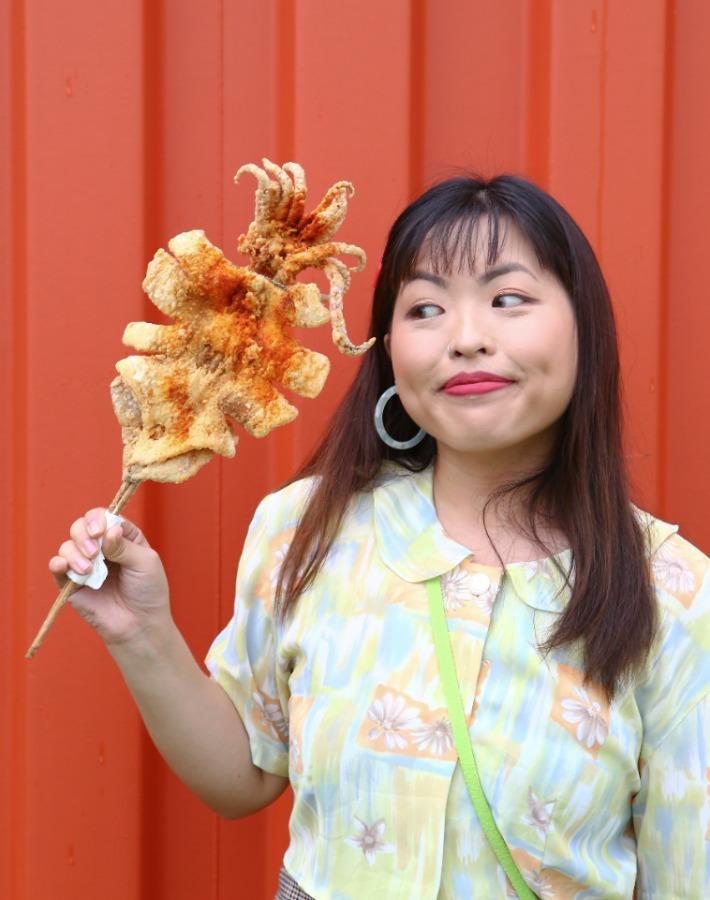 Ningxia Night Market Singapore Fried Squid