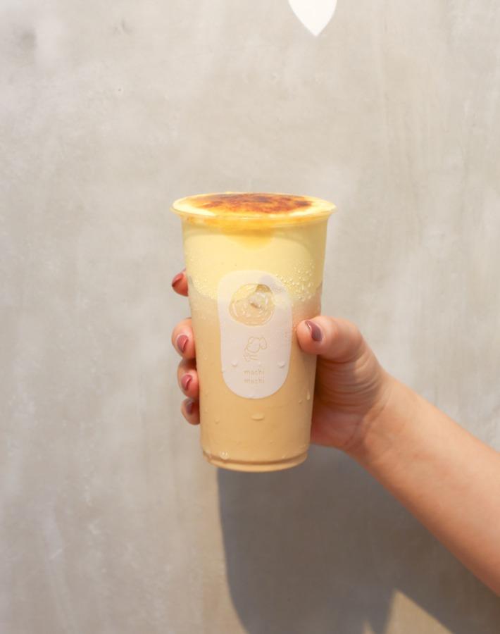 machi machi black milk tea w:creme brulee