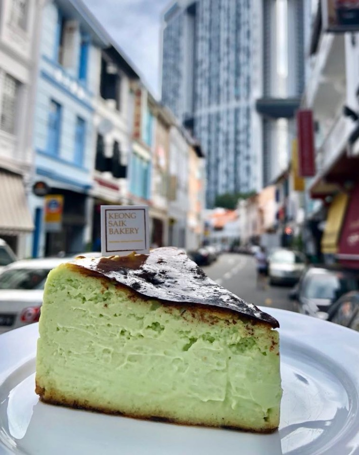 Keong Saik Bakery Pandan Burnt Cheesecake