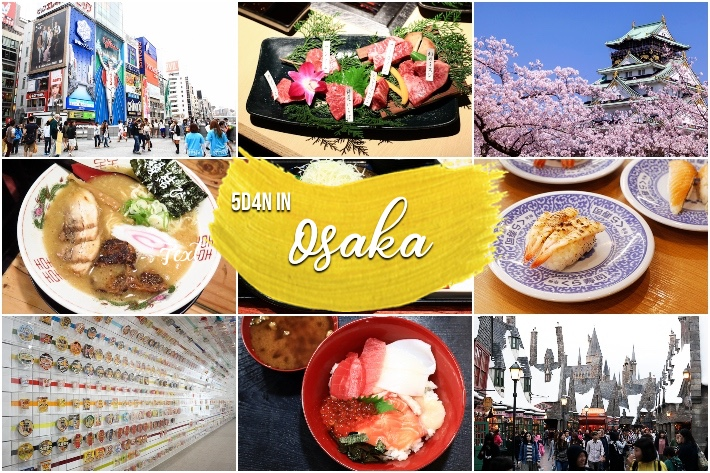 OSAKA ITINERARY COLLAGE COVER PAGE