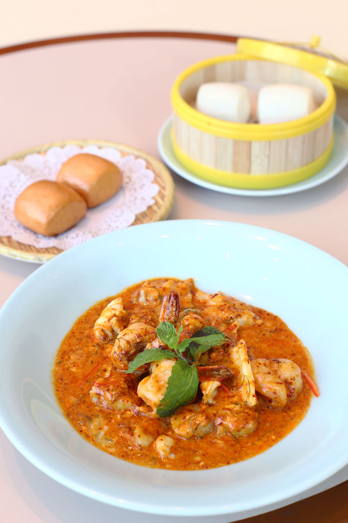 Red House Seafood Spicy Seafood Combination with Crispy Mantou