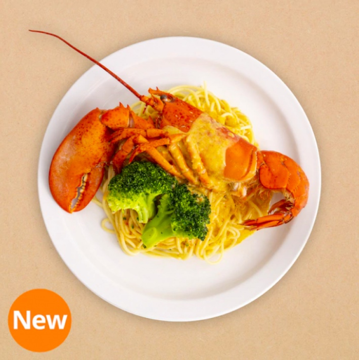 half lobster with laksa spagetthi