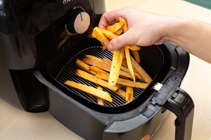 AIR FRYER SWEET POTATOES STEP 9