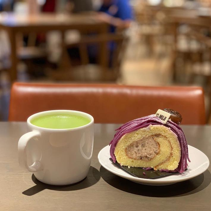 Cafe & Meal Muji Sweet Potato Roll Cake from @_agirlwhoeats_