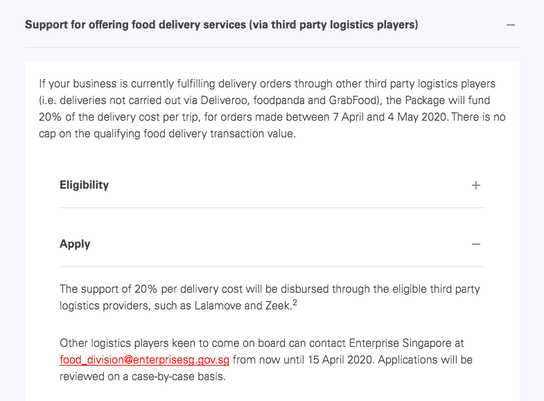 Food Delivery Grants
