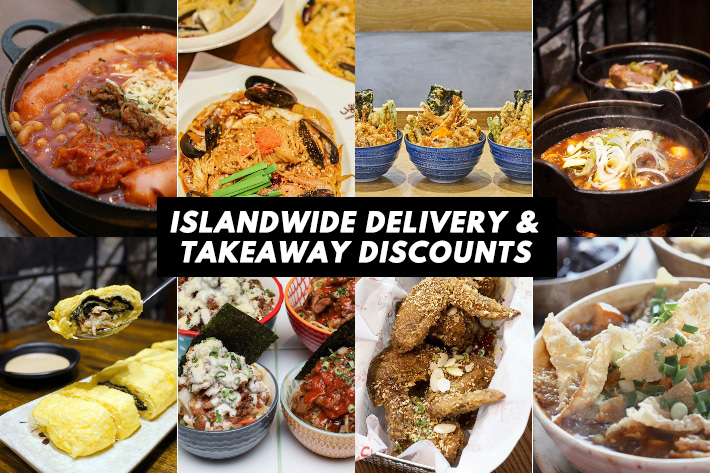 Restaurants With Islandwide Delivery and Takeaway Discount Cover Photo