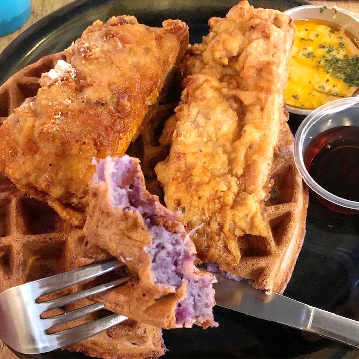 The Workbench Bistro Sweet Potato Waffle from @geladana