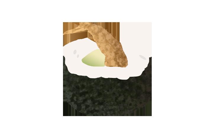 softshell crab maki
