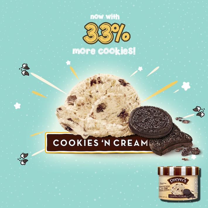 Dreyer's Cookies 'N Cream from FB
