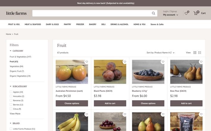 LITTLE FARMS FRUIT PAGE