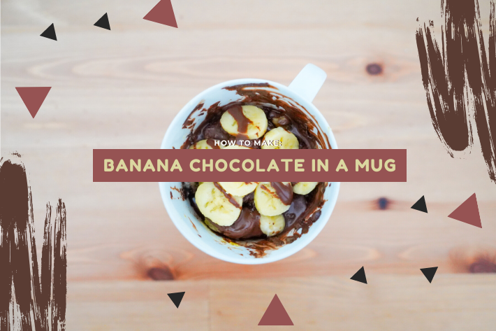 banana chocolate in a mug cover