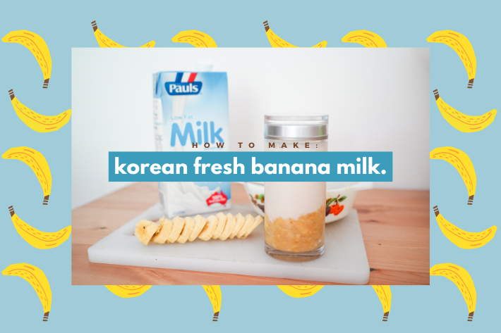 korean fresh banana milk cover