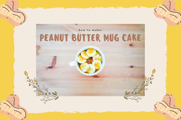 peanut butter mug cake cover