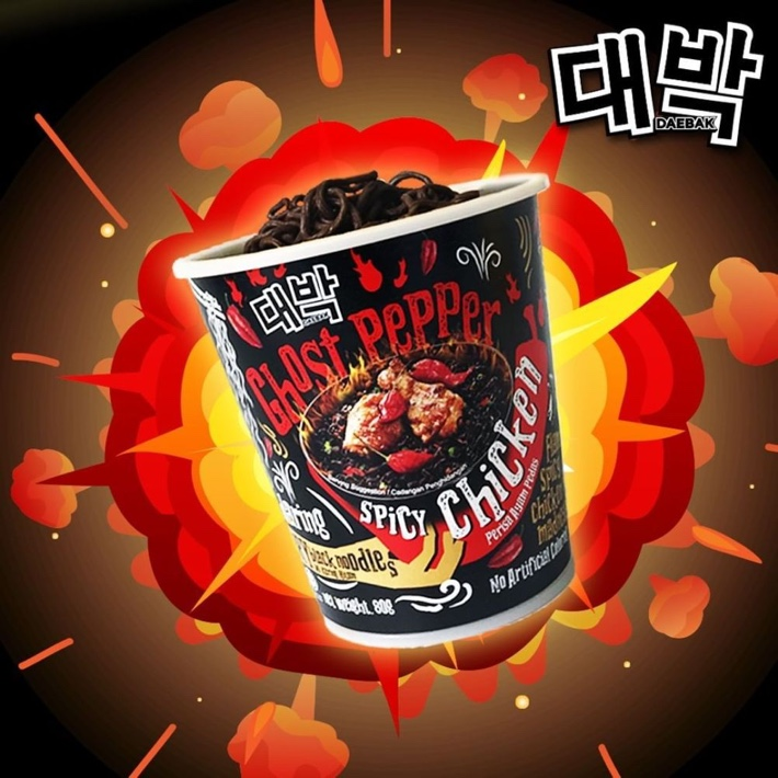 DAEBAK GHOST PEPPER SPICY CHICKEN NOODLES