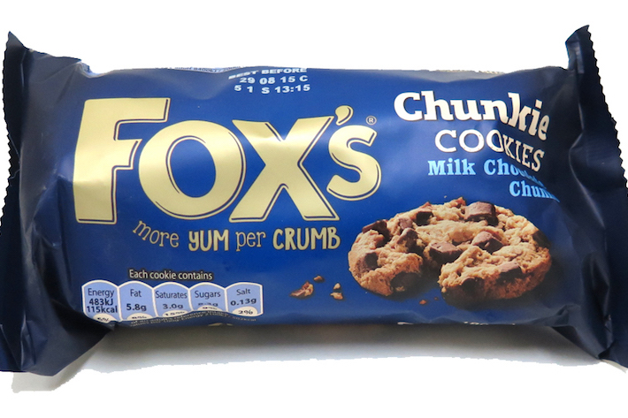 Snacks FOX's Chunkie Cookies Milk Chocolate Chunks