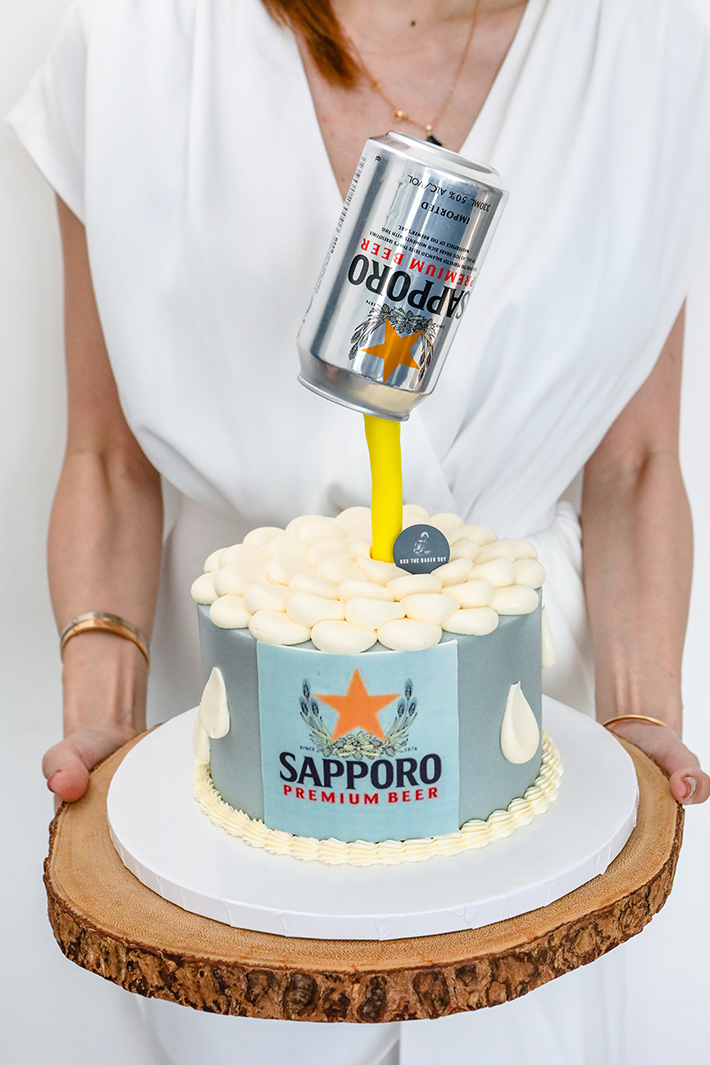 Bob The Baker Boy Defying Gravity Floating Beer Can Cake