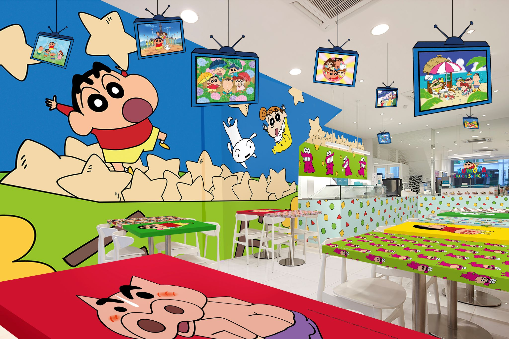 Crayon Shinchan Cafe Interior