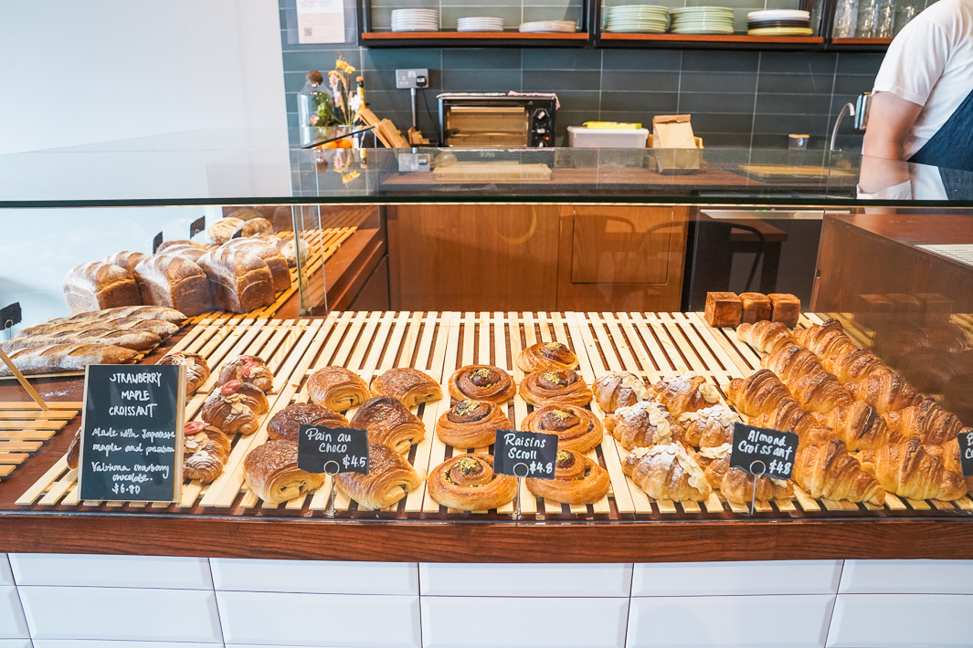 The Bread Rack counter