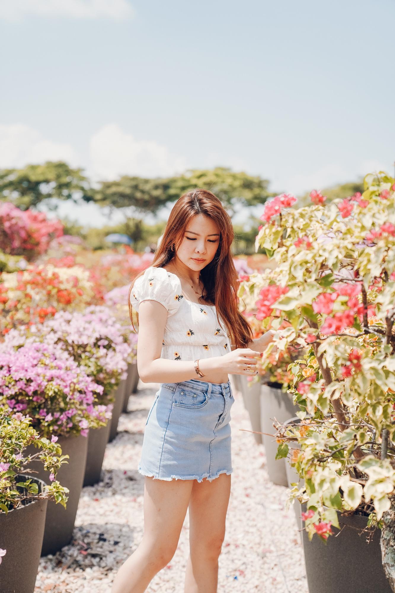 Marina Bay Flower field OOTD