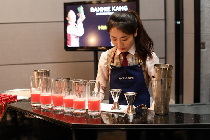 Antidote's mixologist Bannie Kang