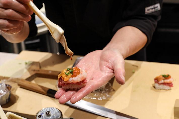 Fat Cow Saga Wagyu Uni Sushi