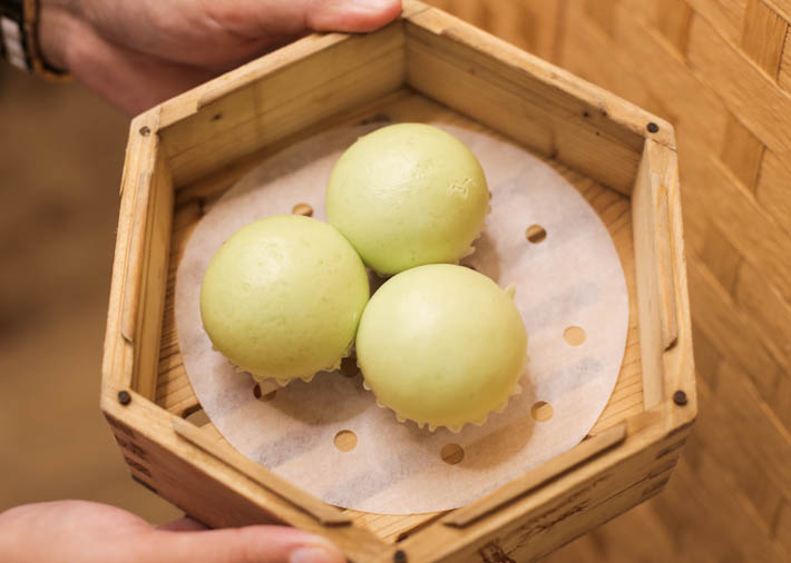 Molten Salted Egg Pandan Buns
