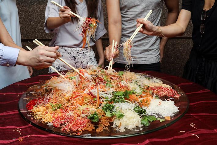 Ginger Lobster Lo Hei Yu Sheng