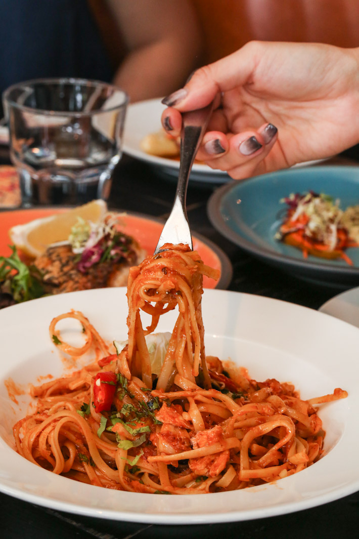 The Pelican Chilli Crab Linguine