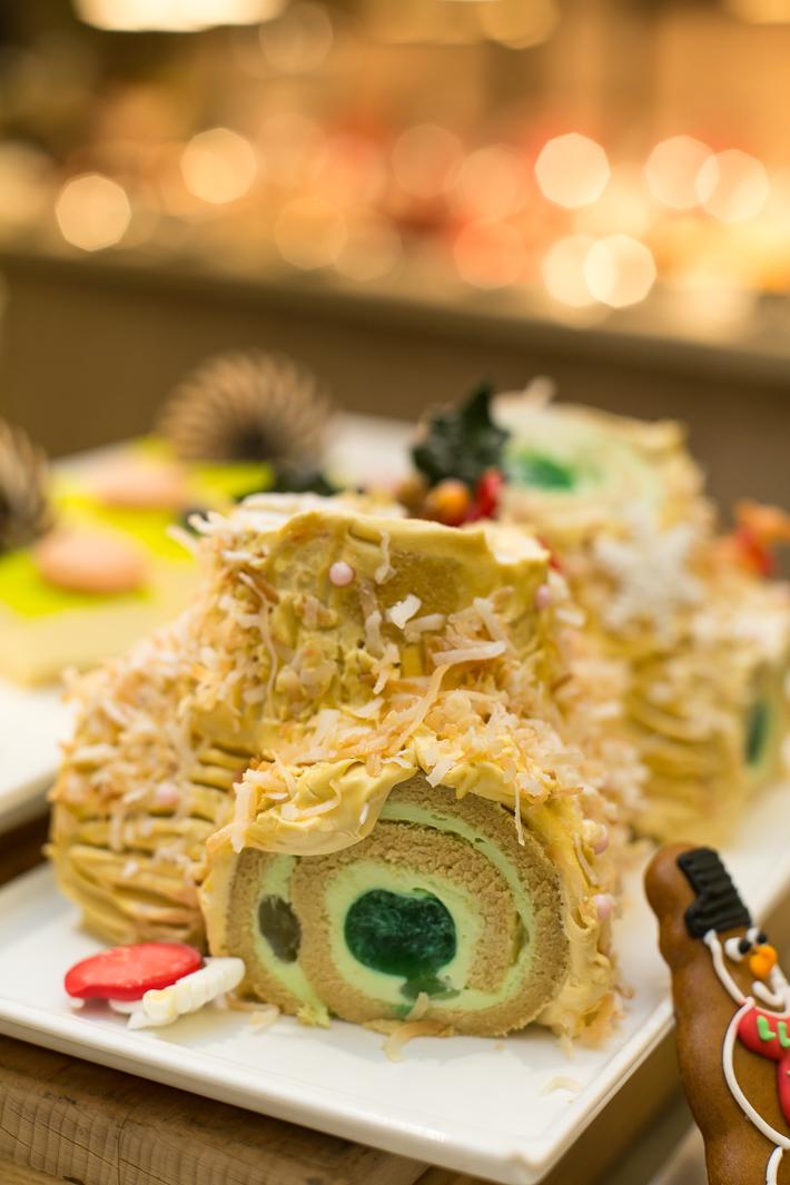 Ginger Gula Melaka Log Cake